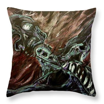 Tormented Soul Throw Pillow