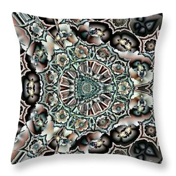 Throw Pillow featuring the digital art Torn Patterns by Ron Bissett