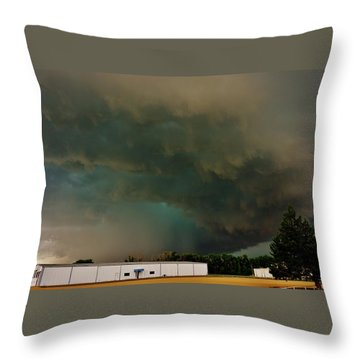 Tornadic Supercell Throw Pillow