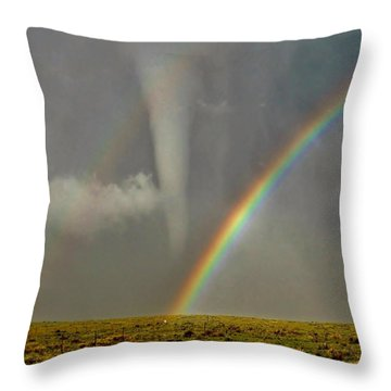 Tornado And The Rainbow II  Throw Pillow