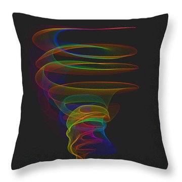 Tornado Throw Pillow by Angela A Stanton