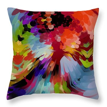 Tornado Colors By Nico Bielow Throw Pillow