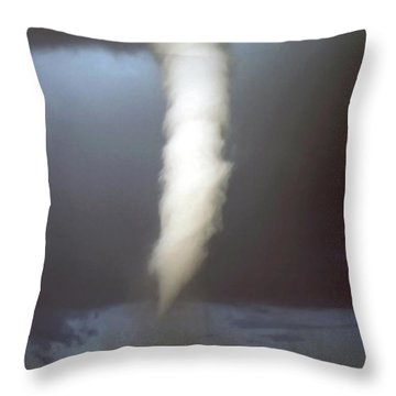 Tornado Funnel Throw Pillow by Sally Weigand