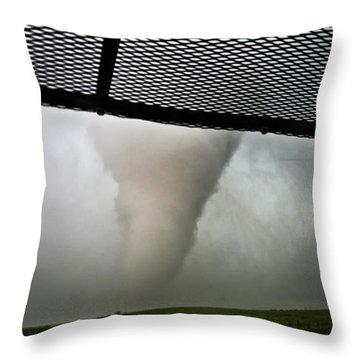Tornado Near Yorkton Sk. Throw Pillow by Ryan Crouse