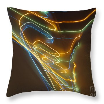 Throw Pillow featuring the photograph Tornado Of Lights. Dancing Lights Series by Ausra Huntington nee Paulauskaite
