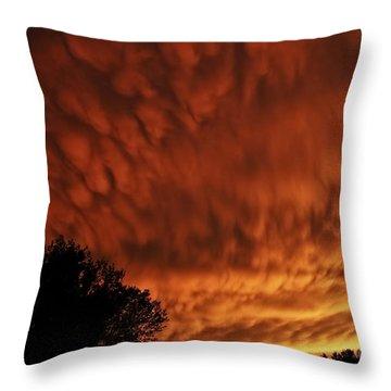 Tornado Warning Throw Pillow
