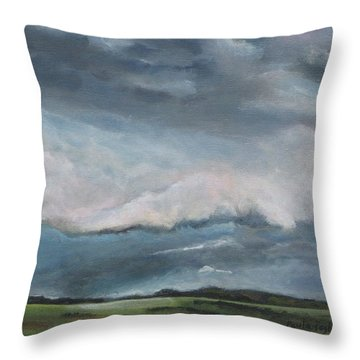 Tornado Warning Throw Pillow
