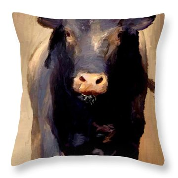 Bull Toro Bravo Throw Pillow