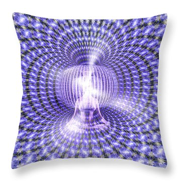 Toroidal Hologram Throw Pillow by Robby Donaghey