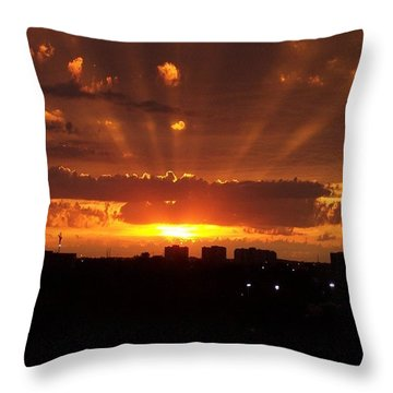 Toronto - Just One Breathtaking Sunset Throw Pillow