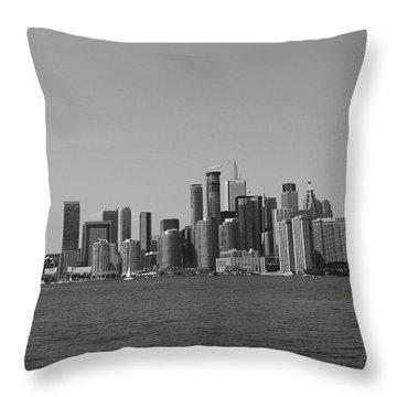 Toronto Cistyscape Bw Throw Pillow