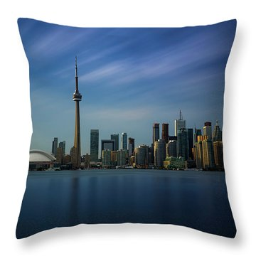 Toronto Cityscape Throw Pillow by Ian Good