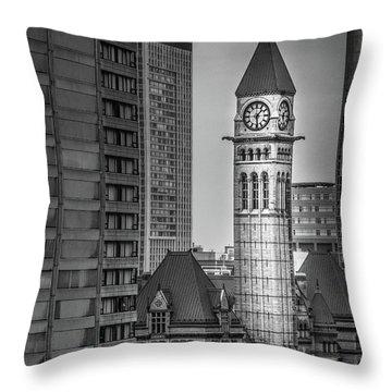 Toronto Courthouse Clock Tower Throw Pillow