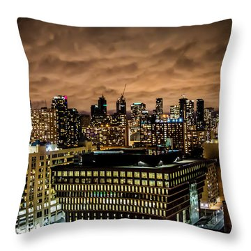 Toronto Dusk Throw Pillow by Sara Frank