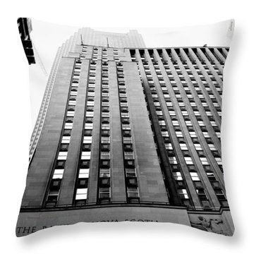 Toronto Historic Building Throw Pillow by Valentino Visentini