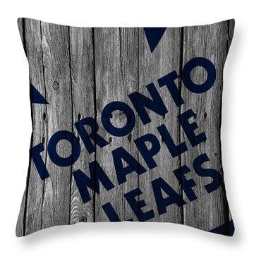 Toronto Maple Leafs Wood Fence Throw Pillow