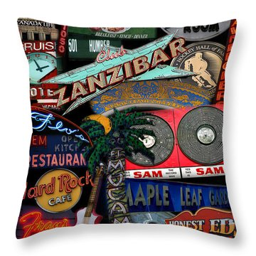 Toronto Neon Throw Pillow by Andrew Fare