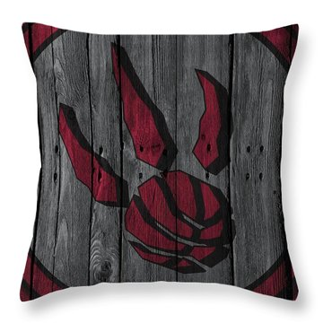 Toronto Raptors Wood Fence Throw Pillow