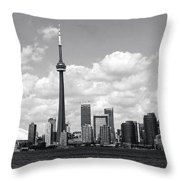 Cn Tower Throw Pillows