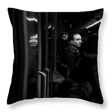 Toronto Subway Reflection Throw Pillow