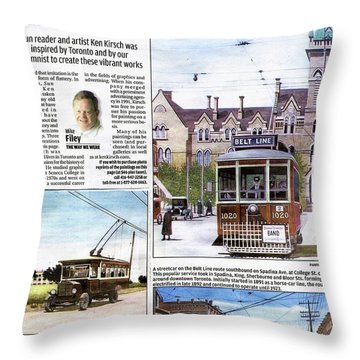 Throw Pillow featuring the painting Toronto Sun Article Painting The Town by Kenneth M Kirsch