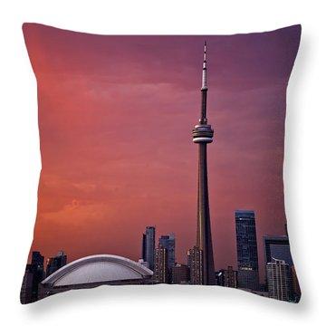 Toronto Sunset Throw Pillow by Ian Good