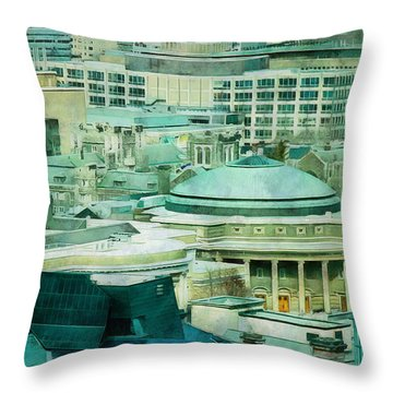 Toronto Window View Throw Pillow