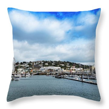 Throw Pillow featuring the photograph Torquay Devon by Scott Carruthers