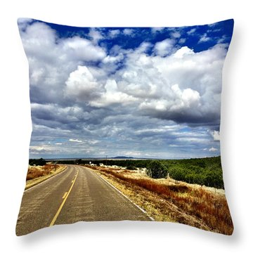 Torrance County Clouds Throw Pillow