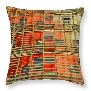 Torre Agbar Modern Facade Throw Pillow by Marek Stepan
