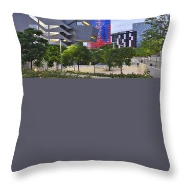 Torre Agbar Barcelona  Throw Pillow by Marek Stepan