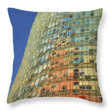 Torre Agbar  Throw Pillow by Marek Stepan