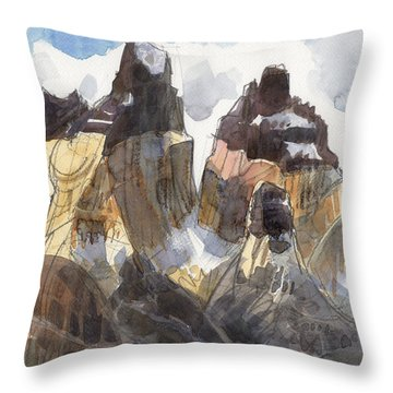 Torres Del Paine, Chile Throw Pillow