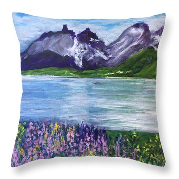 Torres Del Paine In Chile Throw Pillow