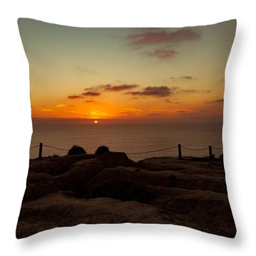 Torrey Pine Glider Port Sunset Throw Pillow