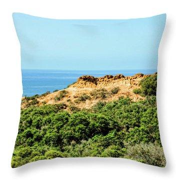 Torrey Pines California - Chaparral On The Coastal Cliffs Throw Pillow