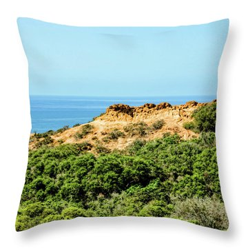 Torrey Pines California - Chaparral On The Coastal Cliffs Throw Pillow
