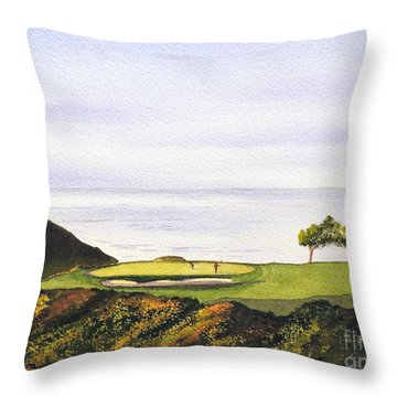 Torrey Pines South Golf Course Throw Pillow by Bill Holkham