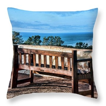 Torrey Pines View Throw Pillow by Daniel Hebard