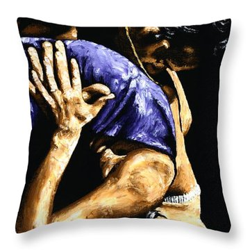 Torrid Tango Throw Pillow by Richard Young