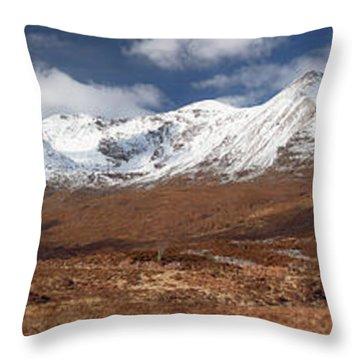 Throw Pillow featuring the photograph Torridon Panorama by Grant Glendinning
