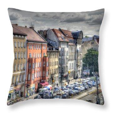 Torstrasse Berlin Throw Pillow