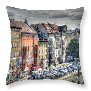 Torstrasse Berlin Throw Pillow