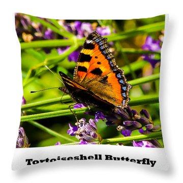 Tortoiseshell Butterfly. Throw Pillow