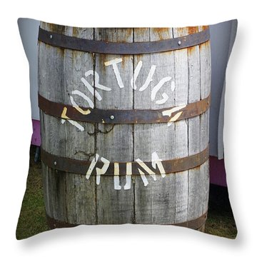 Tortuga Rum Throw Pillow by Laurie Perry