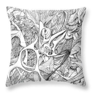 Tortuosity Throw Pillow