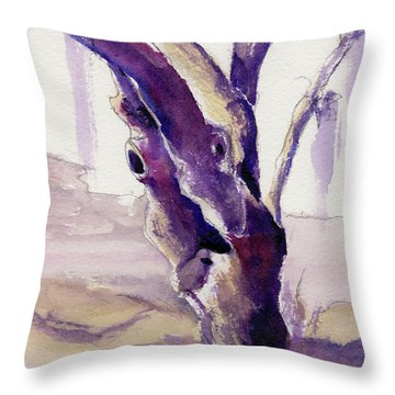 Throw Pillow featuring the painting Tortured by Kris Parins
