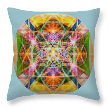 Torusphere Synthesis Bright Beginning Soulin I Throw Pillow