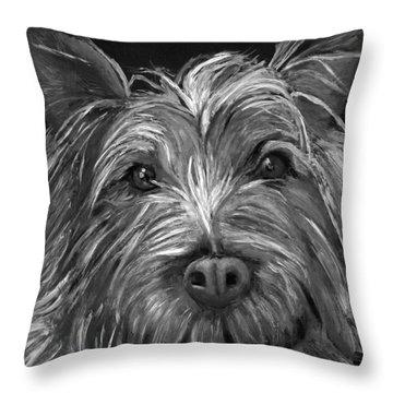 Tosha The Highland Terrier Throw Pillow