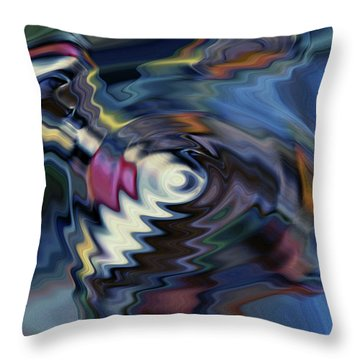 total discombobulation from      U refuse to consider my point Throw Pillow